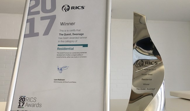 The Quest wins RICS Residential Award - Southwest Region